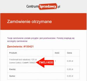 kod rabatowy freshmail.pl