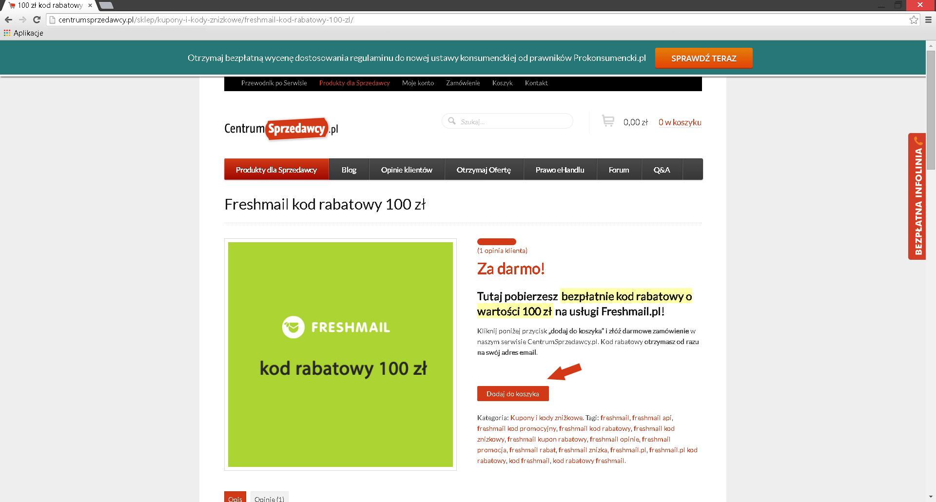 freshmail kod rabatowy, freshmail kod promocyjny, kod promocyjny freshmail,
