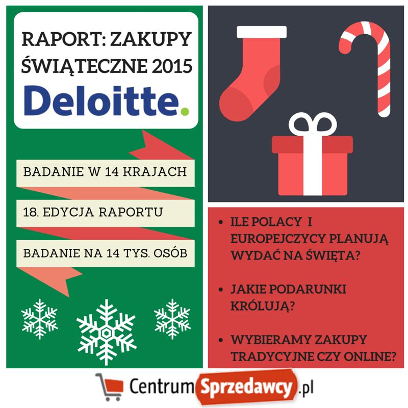 RAPORT Deloitte: Zakupy świąteczne 2015 – zwyczaje konsumenckie w Polsce i w Europie