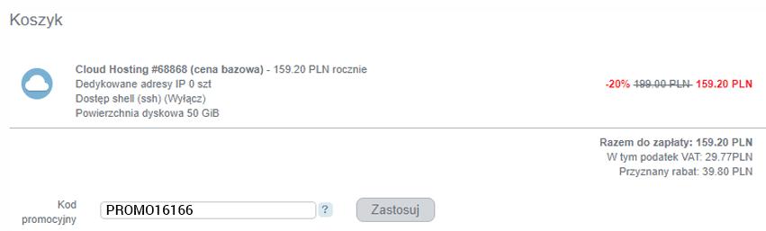 kod promocyjny webh